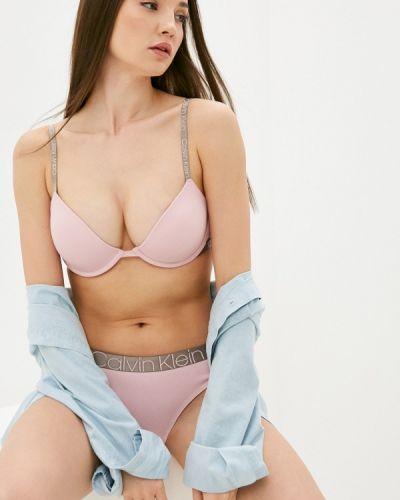 Розовый бюстгальтер пуш ап с пуш-ап Calvin Klein Underwear