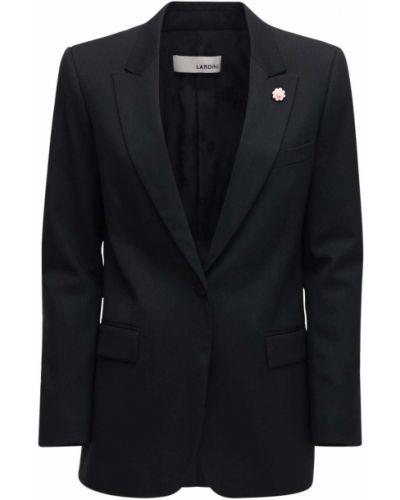 Черный пиджак с карманами из габардина Lardini