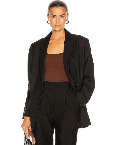 Повседневный черный пиджак с карманами Toteme