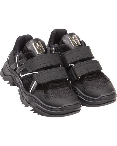 Кожаные черные кроссовки Cesare Paciotti