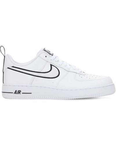 Biały ażurowy dres skórzany Nike