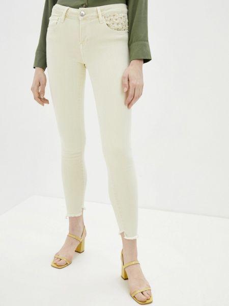 Зауженные джинсы - белые D'she