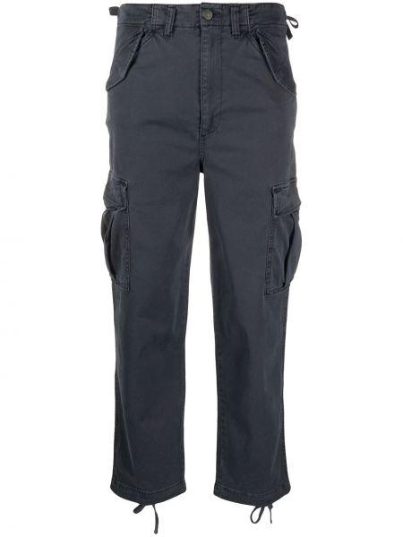 Брюки с завышенной талией карго с карманами Boyish Denim