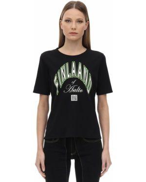 Czarny t-shirt bawełniany Aalto