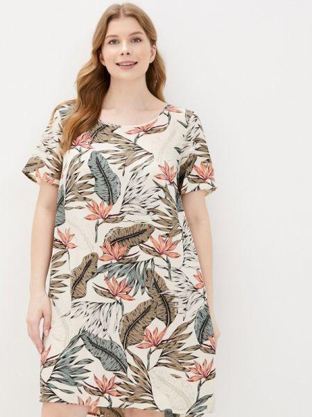 Повседневное платье бежевое весеннее Zizzi