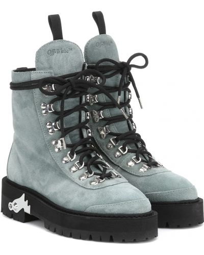 Зимние ботинки замшевые трекинговые Off-white