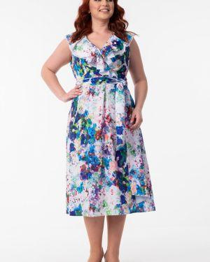 Платье с поясом с V-образным вырезом платье-сарафан Wisell