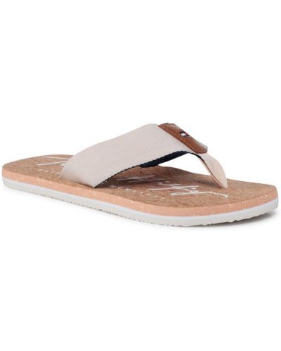 Plaża beżowy sandały Tommy Hilfiger