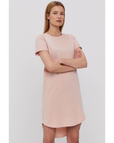 Różowa sukienka mini dzianinowa casual Hailys