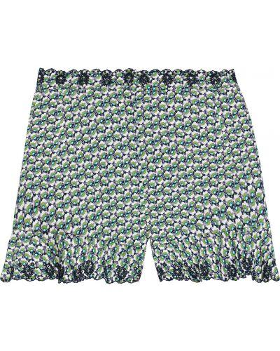 Зеленые хлопковые шорты с карманами Paco Rabanne