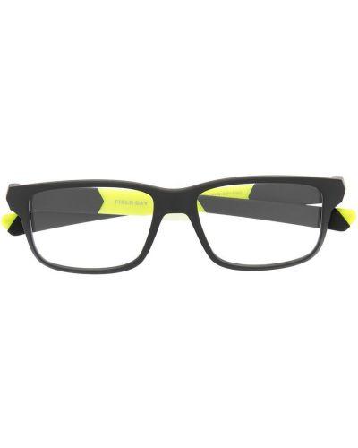 Черные очки прямоугольные прозрачные Oakley