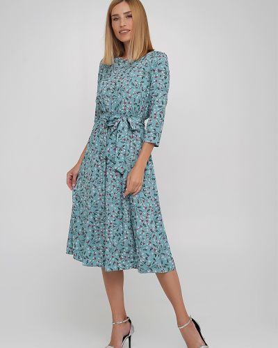 Платье из штапеля - зеленое Anastasimo