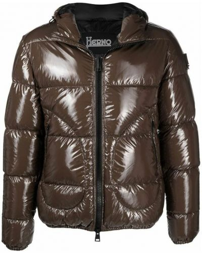 Brązowy płaszcz Herno