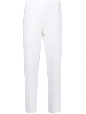 Белые кожаные укороченные брюки с поясом Eileen Fisher