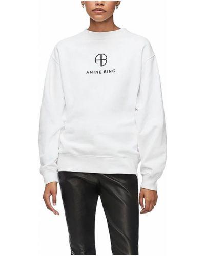 Biała bluza z długimi rękawami Anine Bing