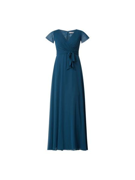 Sukienka wieczorowa rozkloszowana krótki rękaw z szyfonu Christian Berg Cocktail