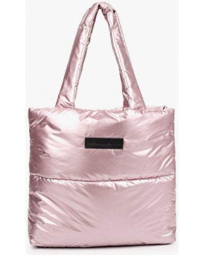Розовая сумка шоппер Asya Malbershtein