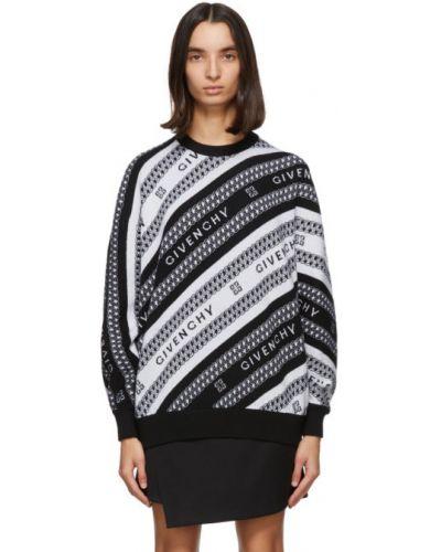 Czarny sweter wełniany z długimi rękawami Givenchy