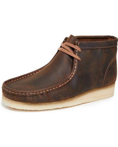 Ажурные кожаные ботинки на шнуровке Clarks