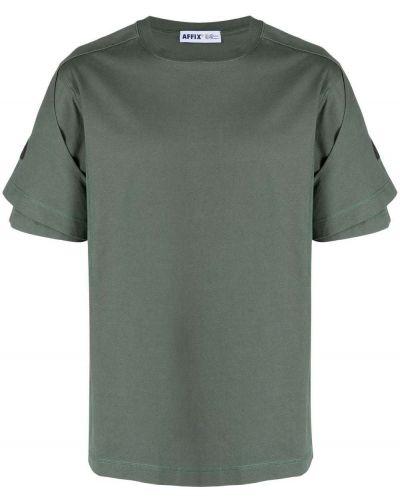 Zielony t-shirt z printem bawełniany Affix