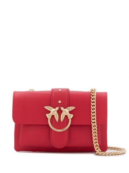 Розовая сумка через плечо с перьями Pinko