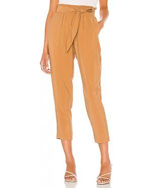 Шелковые коричневые брюки с карманами Bcbgeneration