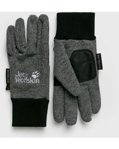 Skórzany rękawiczki wełniany szary Jack Wolfskin