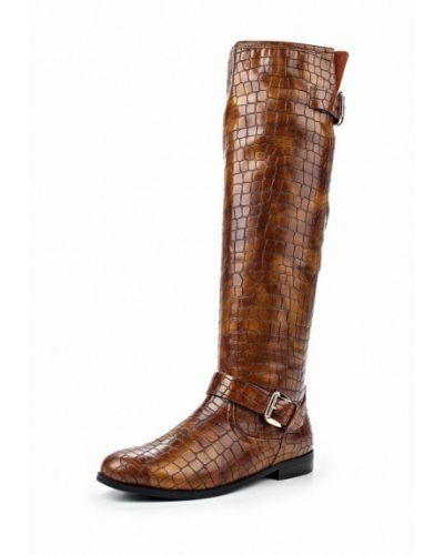 Коричневые ботфорты кожаные Wilmar