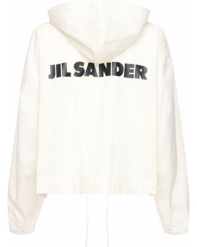 Ватная белая куртка с капюшоном Jil Sander