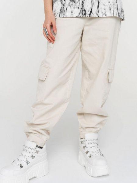 Бежевые брюки Befree