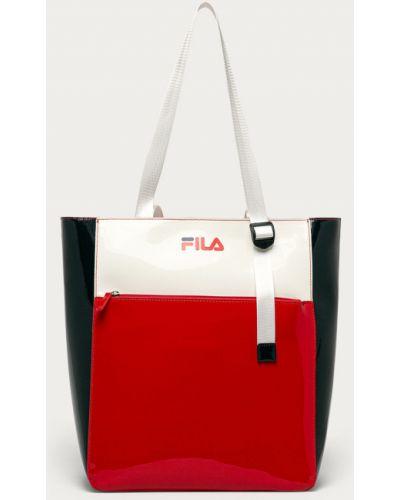 Czerwona torebka duża Fila