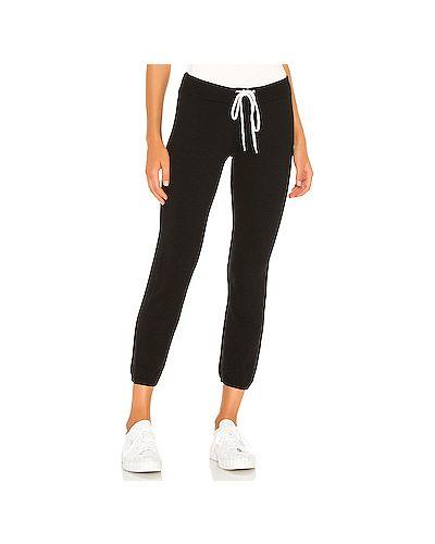 Облегающие махровые черные спортивные брюки винтажные Monrow