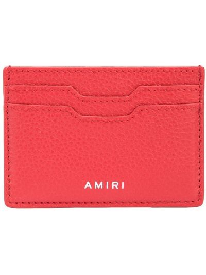 Красный кожаный кошелек Amiri