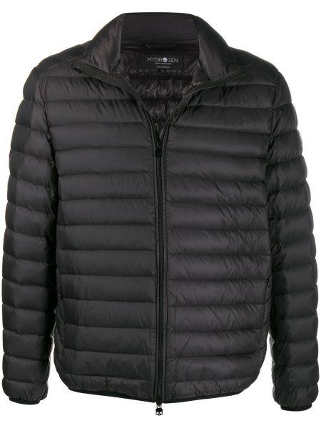 Czarna kurtka pikowana z długimi rękawami Hydrogen