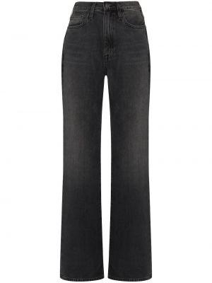 Прямые хлопковые черные прямые джинсы Frame