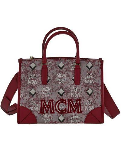 Czerwona torebka Mcm