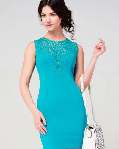 Вечернее платье весеннее бирюзовый Ricamare