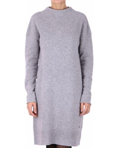 Шерстяное платье - серое Bogner