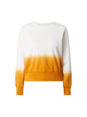 Pomarańczowa bluza bawełniana z raglanowymi rękawami Boss Casualwear