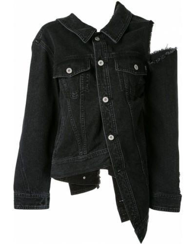 Хлопковая серая джинсовая куртка с воротником Ground Zero