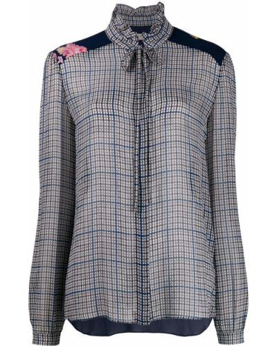 Блузка с длинным рукавом с воротником с манжетами Preen Line