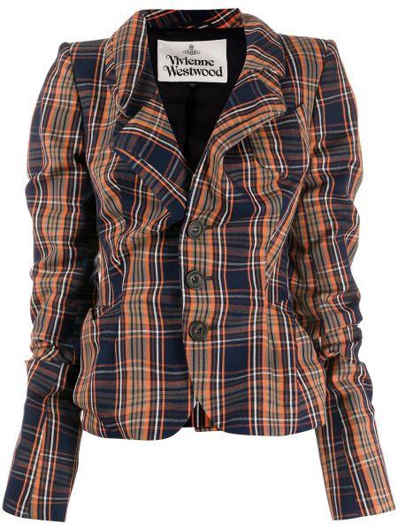 Синий пиджак на пуговицах с лацканами Vivienne Westwood