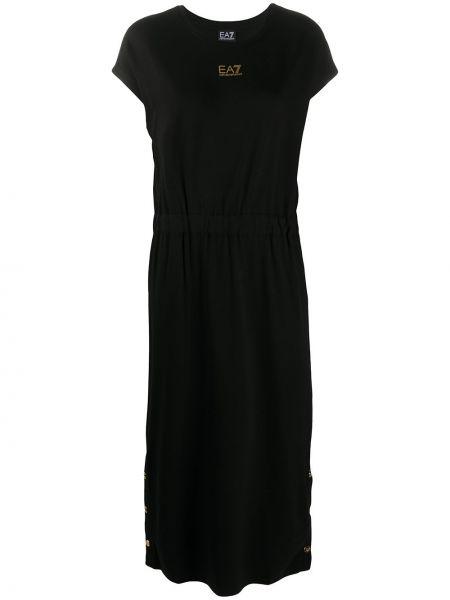 Платье мини короткое - черное Ea7 Emporio Armani