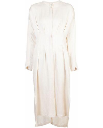 Платье макси длинное - бежевое Zero + Maria Cornejo