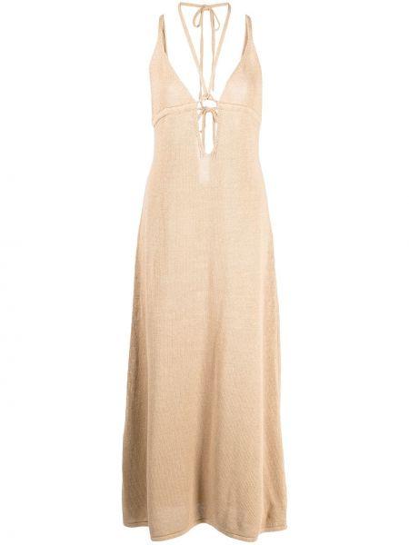 Brązowa sukienka bez rękawów Cult Gaia