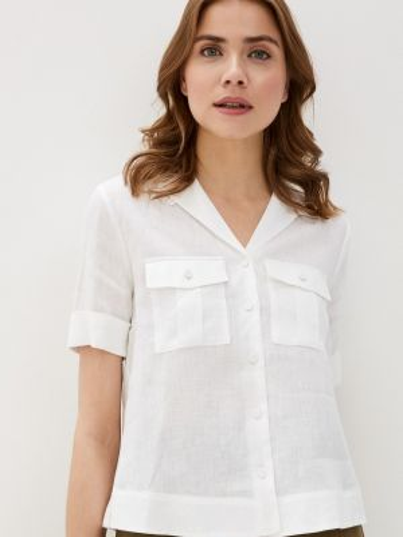 Рубашка с коротким рукавом белая Marks & Spencer