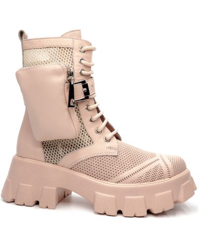 Кожаные ботинки - розовые Guero