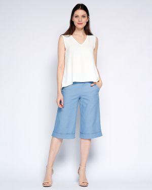 Хлопковые повседневные летние брюки с воротником с карманами Fiato