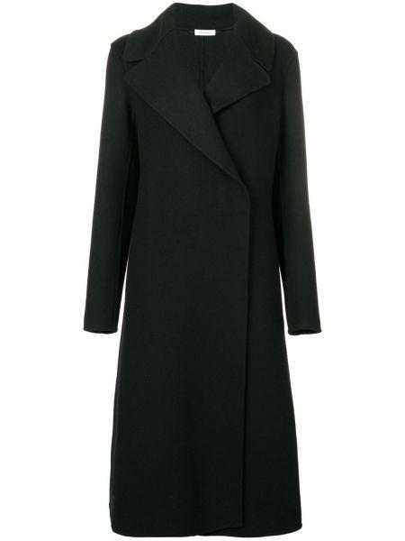 Длинное пальто расклешенное с запахом Jil Sander