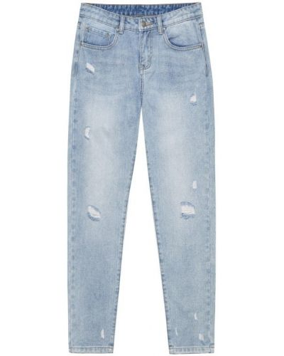 Хлопковые джинсы - голубые Moodo
